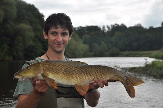 barbel fishing river wye wales