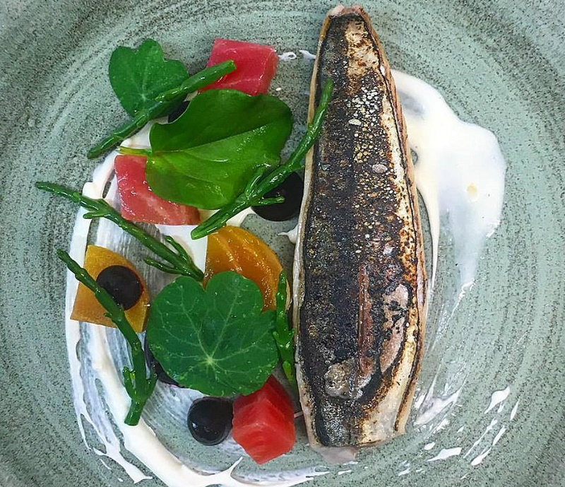 Mackerel horseradish beetroot
